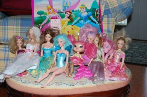 Barbie and Friends posing for a photography session