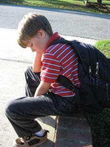 Woe is me...first day of fourth grade