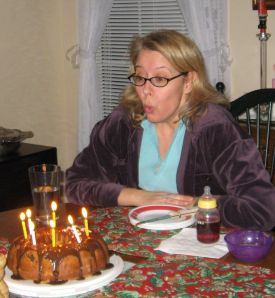 Honey baked the cake. Yum!