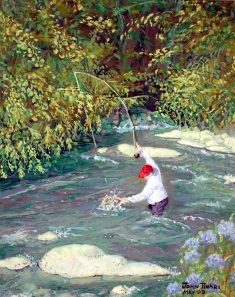Fisherman watercolor, John Tinari