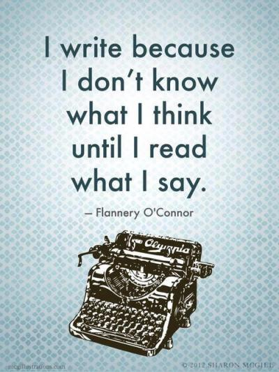 Flannery O'Connor quote writing