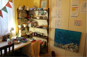 "My ""studio."" I did have one in the garage, but it got engulfed when my parents moved house!"