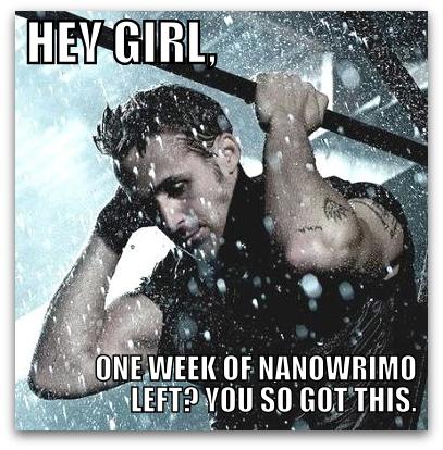 Ryan Gosling NaNoWriMo