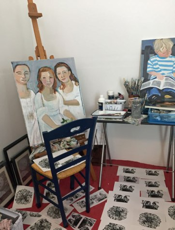 Easel and prints